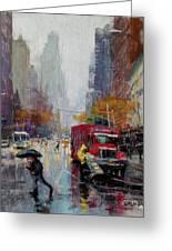 November Rain Greeting Card