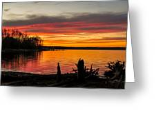 November Sunset Manasquan Reservoir Nj Greeting Card