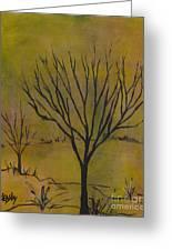 November Tree Greeting Card