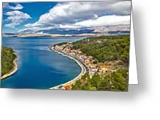Novigrad Dalmatinski Fishermen Village Bay Greeting Card