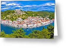 Novigrad Dalmatinski Waterfront And Bay View Greeting Card