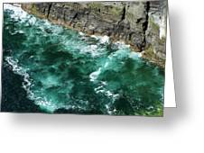 Nowhere To Go Cliffs Of Moher Ireland Greeting Card