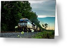 Ns 62w With Blurred Flowers Greeting Card