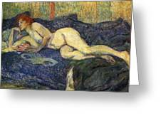 Nu Couche Naked Lying  Greeting Card