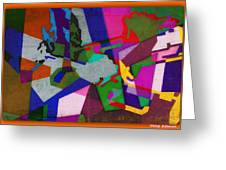 Nu Wall Graffiti Horns In The Landscape Of Sound/tony Adamo Greeting Card