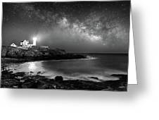 Nubble At Night Greeting Card