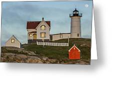 Nubble At Sunset Greeting Card