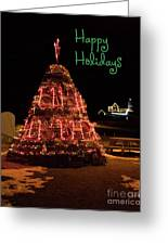 Nubble Light - Happy Holidays Greeting Card