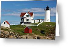 Nubble Lighthouse - D002365 Greeting Card by Daniel Dempster