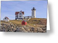 Nubble Lighthouse York Maine Greeting Card