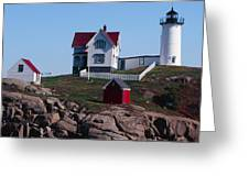 Nubble Point Lighthouse Greeting Card