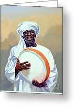 Nubian Musician Player Playing Duff Greeting Card