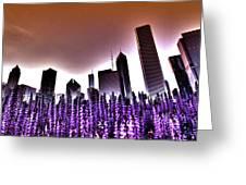 Nuclear Chicago Skyline Greeting Card