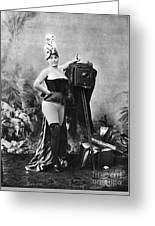 Nude And Camera, C1880 Greeting Card
