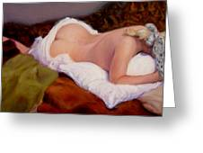 Nude At Rest 2 Greeting Card