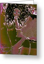 Nude Dancer Greeting Card