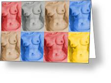 Nude Female Torso - Ppsfn-0002-montage-03 Greeting Card