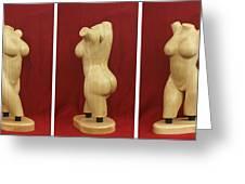 Nude Female Wood Torso Sculpture Roberta    Greeting Card