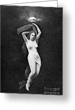 Nude Floating, 1890s Greeting Card