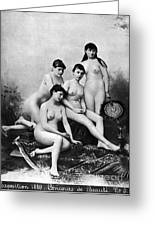 Nude Group, 1889 Greeting Card