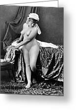 Nude In Bonnet, C1885 Greeting Card