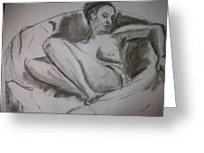 Nude In Chair Greeting Card