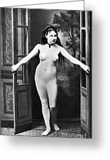 Nude In Doorway, C1865 Greeting Card