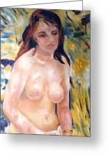 Nude In Sunlight Renoir Reproduction Greeting Card