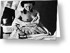 Nude Ironing, C1861 Greeting Card