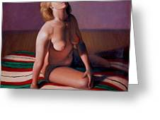 Nude Looking Up Greeting Card