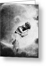 Nude Love Scene, 1890s Greeting Card