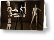 Nude Model  Greeting Card by Bob Orsillo