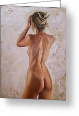 Nude Greeting Card by Natalia Tejera