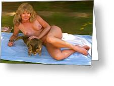 Nude Picnic 4 Greeting Card