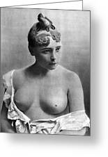 Nude Portrait, C1885 Greeting Card