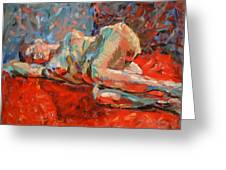 Nude Portrait Of Mary Greeting Card
