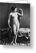 Nude Posing, C1855 Greeting Card