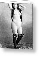 Nude Posing, C1888 Greeting Card