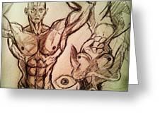 Nude Sketch 49 Greeting Card
