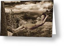 Nude Sunbather Greeting Card