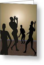 Nude Volleyball Greeting Card by Jerry Cooper