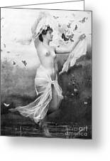 Nude With Butterflies Greeting Card