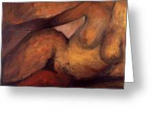Nude With Red Thigh Greeting Card