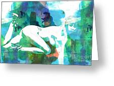 Nude Woman Painting Photographic Print 0031.02 Greeting Card