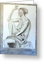 Nude Woman Viii Greeting Card