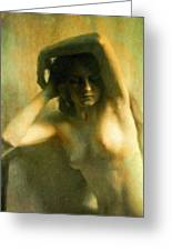 Nude Woman Greeting Card