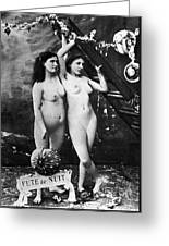 Nudes At Festival, C1900 Greeting Card