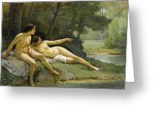 Nudes In The Woods Greeting Card