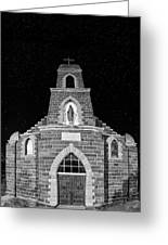 Nuestra Senora De Refugio, Illuminated By The Moon And Yard Lig Greeting Card