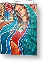 Nuestra Senora Maestosa Greeting Card by Shiloh Sophia McCloud